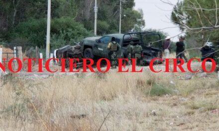 ¡Efectivos del Ejército Mexicano chocaron contra una camioneta en Fresnillo!
