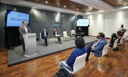 ¡Dialoga gobernador con universitarios destacados sobre nuevos retos de la educación en Aguascalientes!
