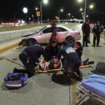 ¡Grave agente investigador que se accidentó en un puente en Aguascalientes!
