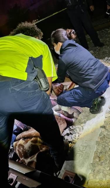 ¡Hombre sufrió amputación del pie derecho tras ser atropellado por el tren en Aguascalientes!