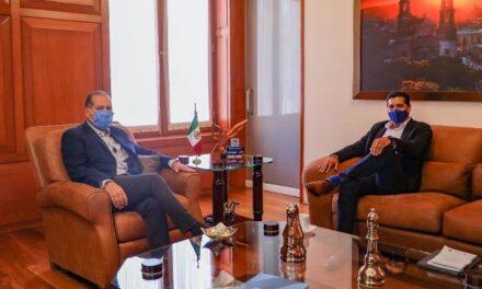 ¡Se reúne gobernador Martín Orozco con alcalde electo de Aguascalientes!