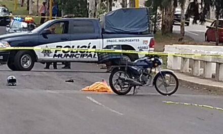 ¡Motociclista se mató tras una caída en Aguascalientes!