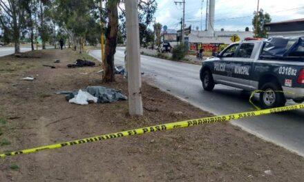 ¡Ex empleado estatal de Aguascalientes se mató partiéndose en tres en accidente de motocicleta!