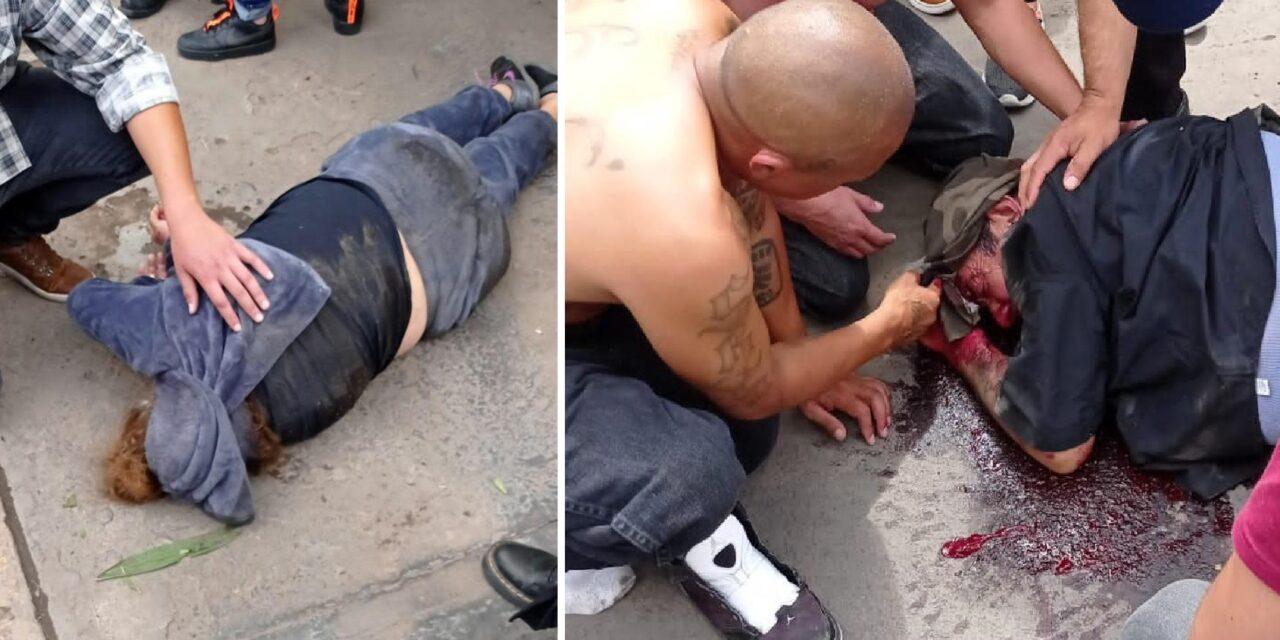 ¡Grave pareja de adultos mayores atropellada por un veloz auto en Aguascalientes!