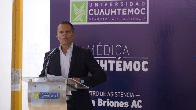 ¡Colocan la primera piedra de la Clínica Universitaria Médica Cuauhtémoc!