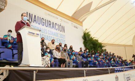 ¡Con más de 2 mil participantes inaugura Martín Orozco Juegos Nacionales CONADE en Aguascalientes!