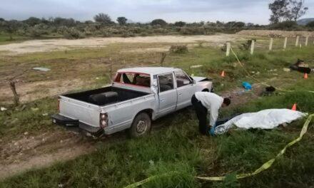 ¡Sexagenario murió tras volcadura de su camioneta en Aguascalientes!