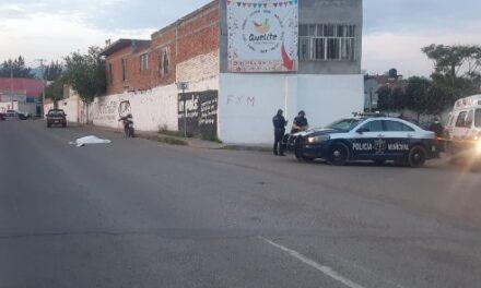 ¡Motociclista atropelló y mató a un peatón en Calvillo, Aguascalientes!