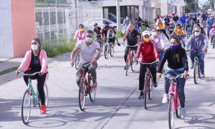 ¡Vecinos de Villa Teresa se unen a reforestación y paseo ciclista del Municipio!
