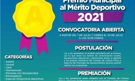 ¡Se agota el tiempo para participar en la convocatoria al Premio Municipal al Mérito Deportivo 2021!