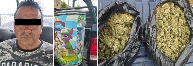 ¡Otro golpe al narcomenudeo asestó la SSPE: detuvo a 2 sujetos con 3 kilos de marihuana en Aguascalientes!