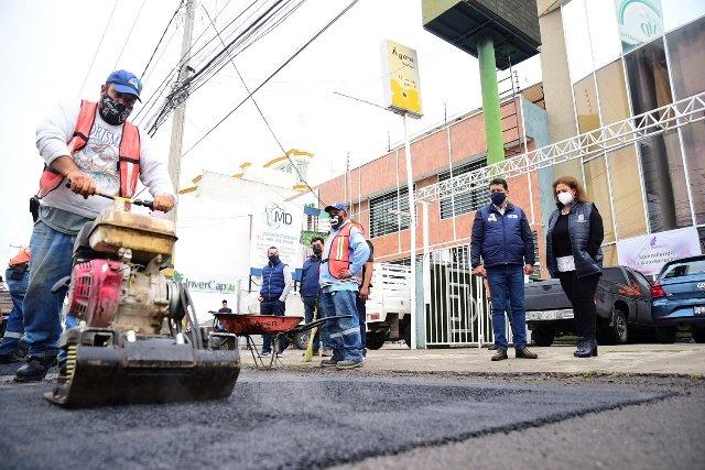 ¡Municipio continúa trabajos de bacheo intensivo por diferentes puntos de la ciudad!