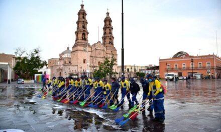 ¡Municipio de Aguascalientes trabaja en la constante limpieza de espacios públicos!
