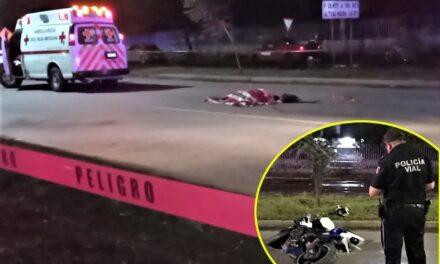 ¡Motociclista se mató tras estrellarse contra un poste en Aguascalientes!