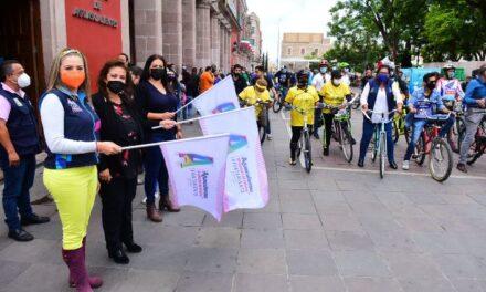 """¡Municipio de Aguascalientes conmemora el """"Día Mundial sin Auto"""" con rodada ciclista!"""