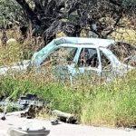 ¡Tres muertos tras volcadura de un vehículo en Ojocaliente!